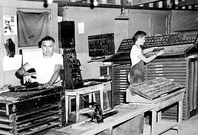 Learning the printing trade in the 1950s