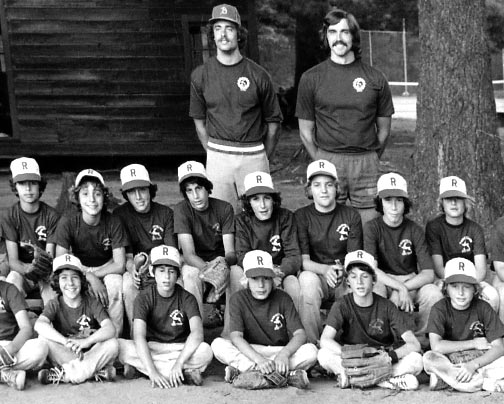 The Raquette Lake Baseball team from the 1970s