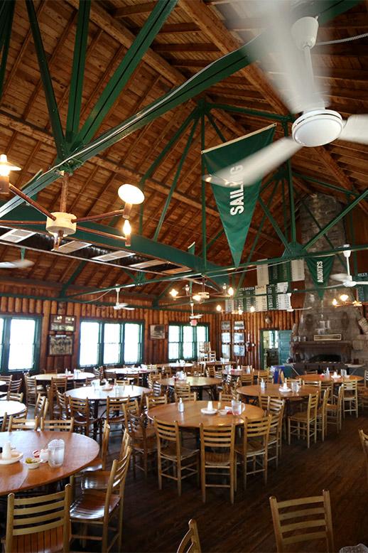 Boys camp dining hall