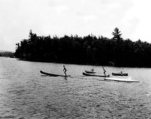 1920s Boys Canoeing